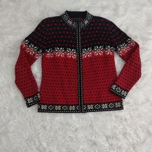 Nomadic Traders Zip Cardigan Fair Isle Sweater